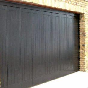 Round the Corner Sliding Wooden Garage Door