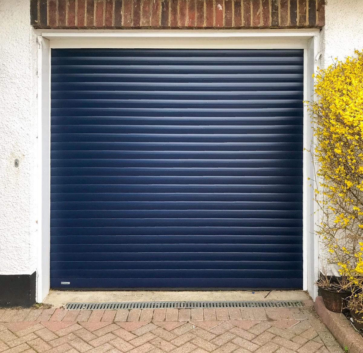 SWS Seceuroglide Classic Roller Garage Door in Navy Blue