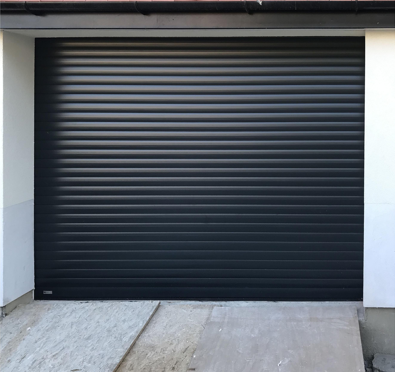 SWS SeceuroGlide Excel Roller Garage Door Finished in Black Grey
