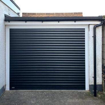 SWS SeceuroGlide Excel Roller Garage Door Finished in Black