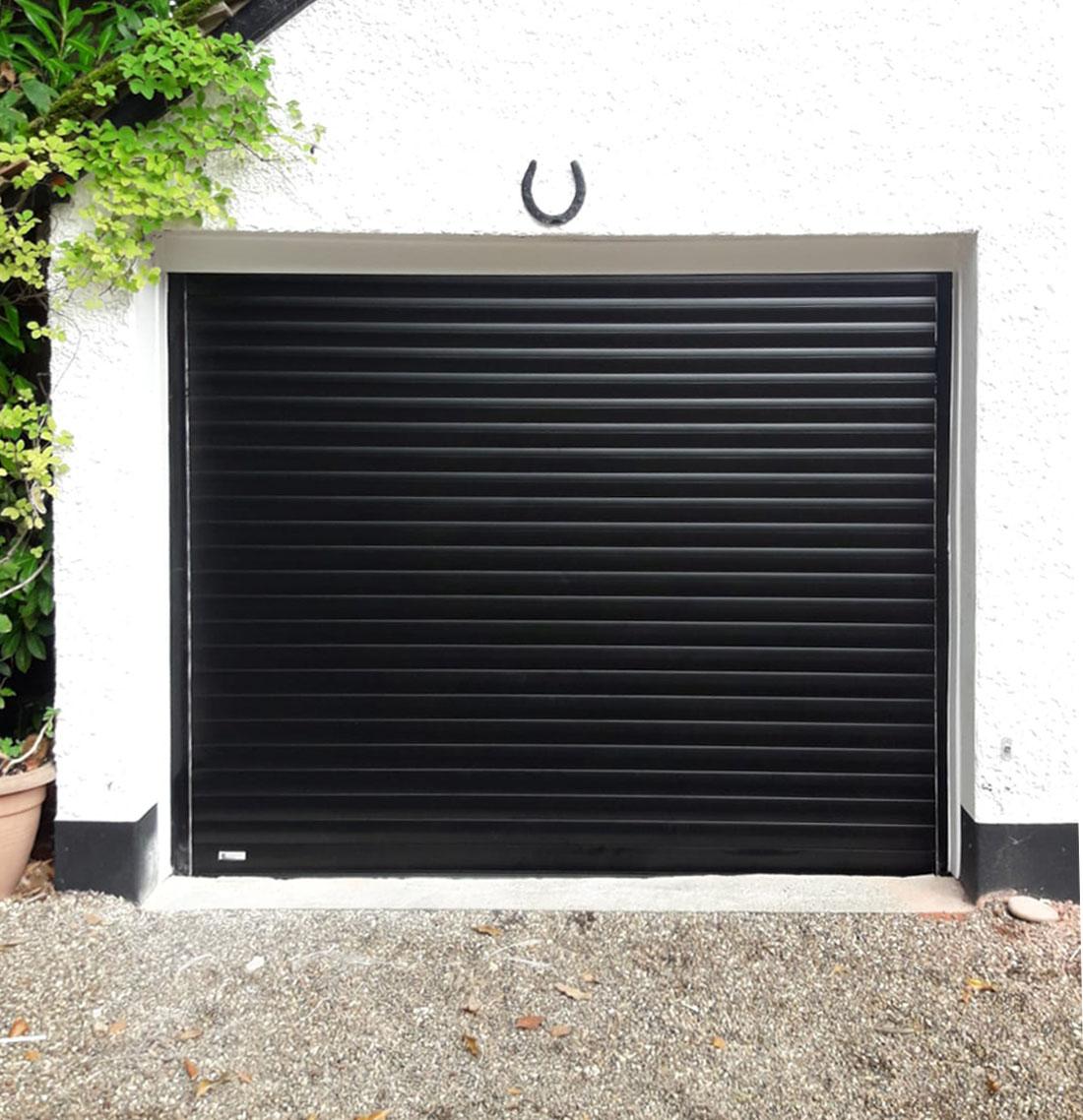 SWS Classic Insulated Roller Garage Door in Black