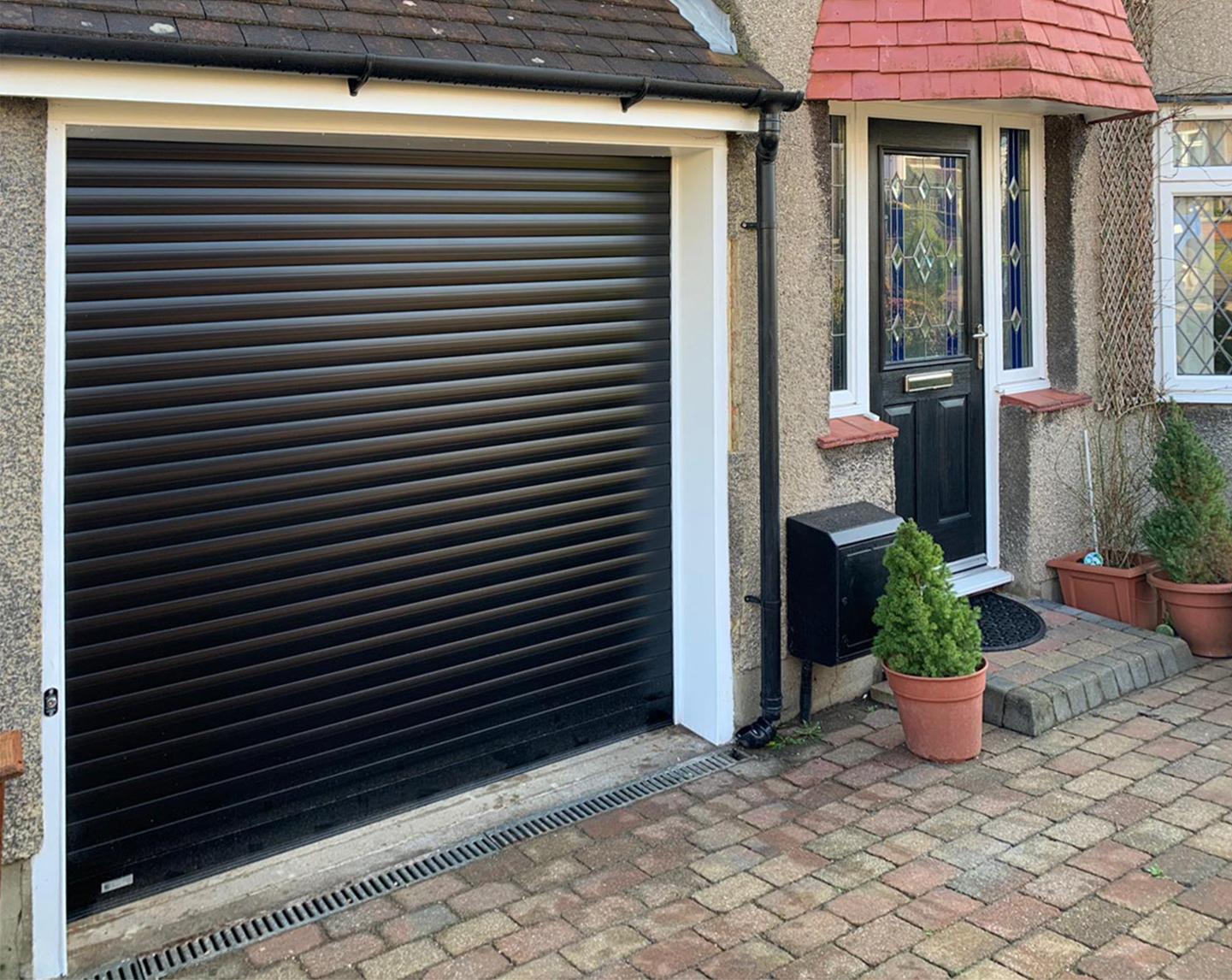 SWS SeceuroGlide Roller Garage Door Finished in Black
