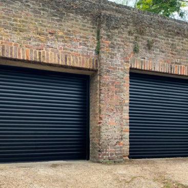2x SWS SeceuroGlide Original Insulated Roller Garage Doors Finished in Black