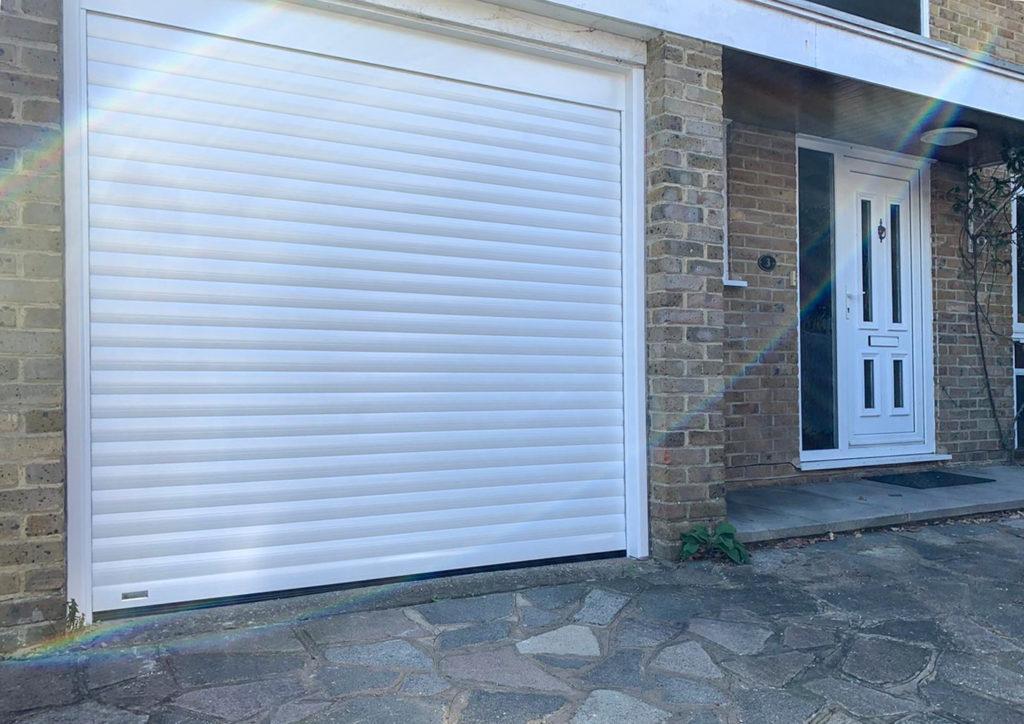 SWS SeceuroGlide Original Insulated Roller Garage Door Finished in White