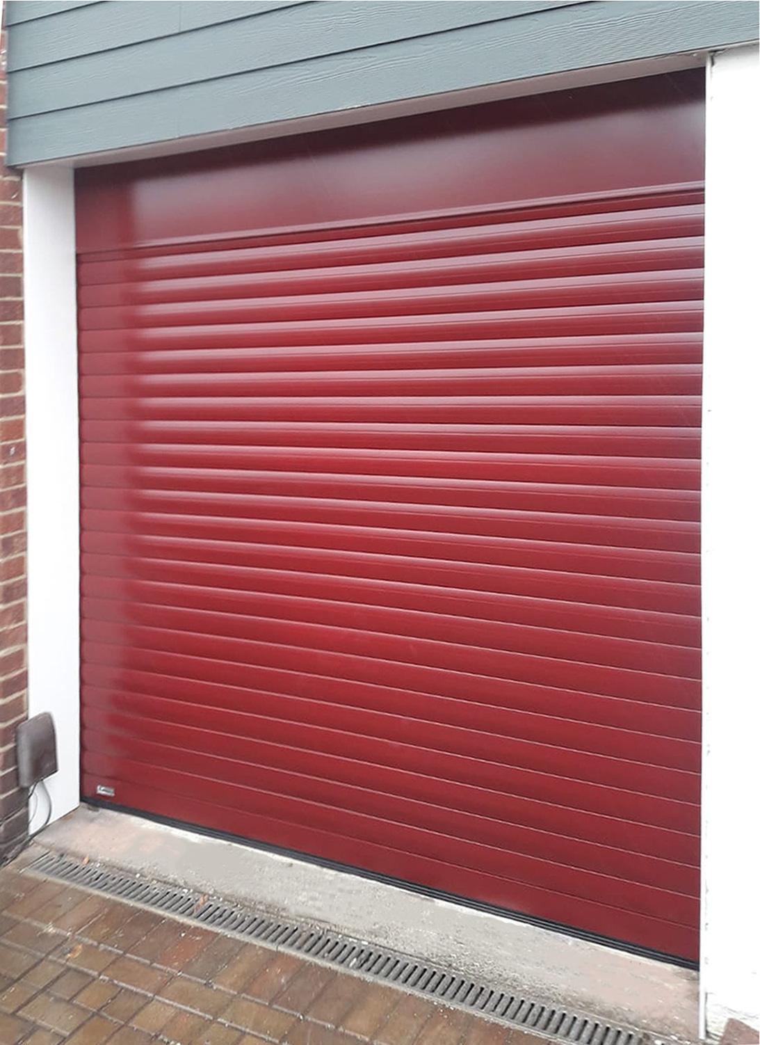 SeceuroGlide Roller Garage Door In Wine Red