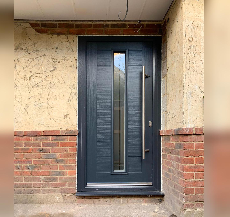 Truedor Kadinsky TR3B Entrance Door Finished in Anthracite Grey