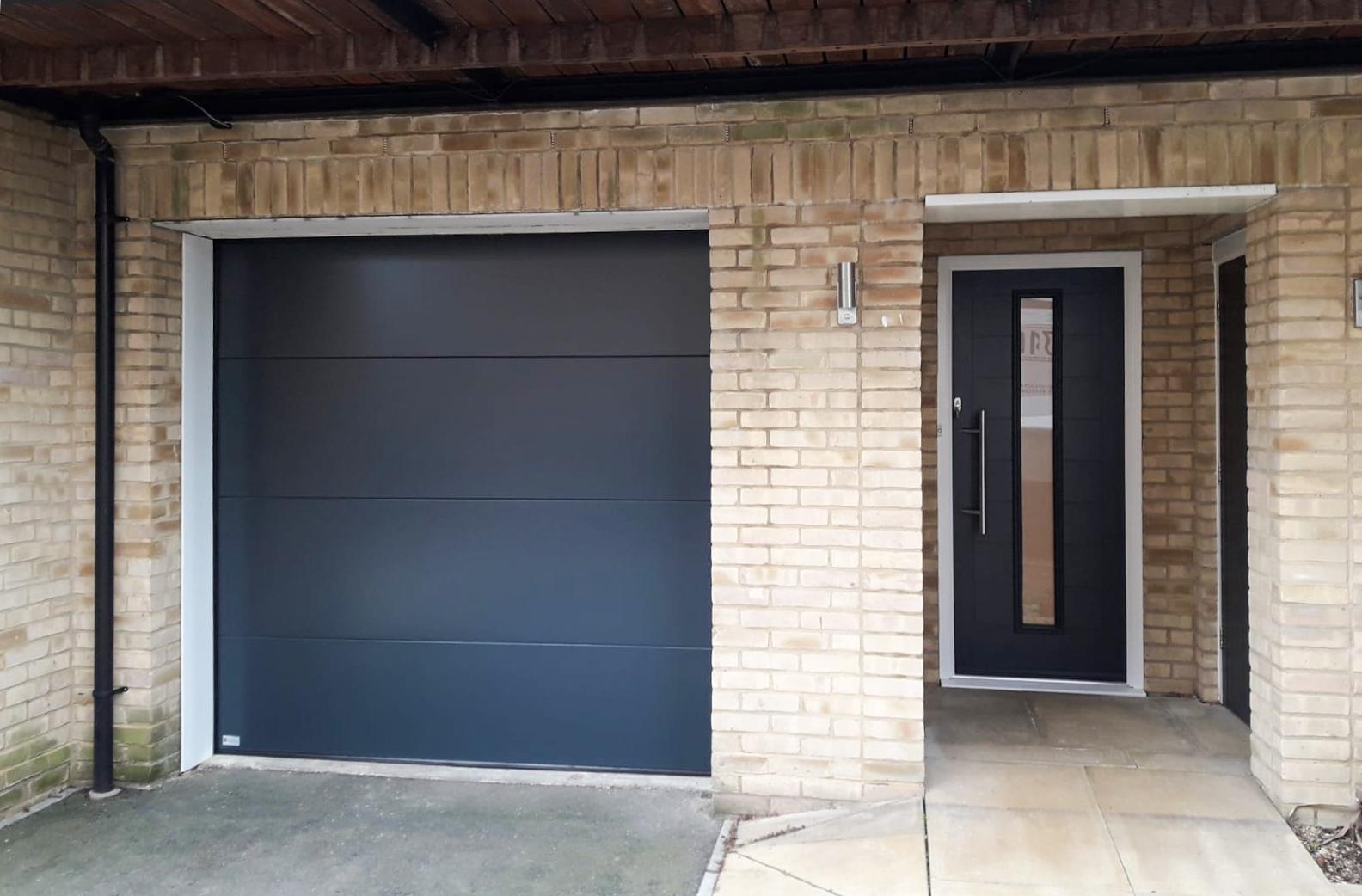 SWS Elite Sectional Garage Door & Truedor Kadinsky Entrance Door