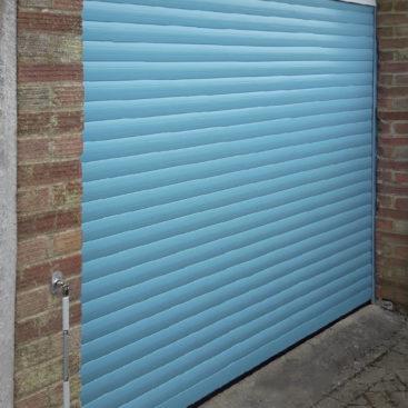 An SWS SeceuroGlide Classic, Insulated, Roller Garage Door