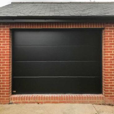 SeceuroGlide 'Elite' Garage Door in Smooth Black