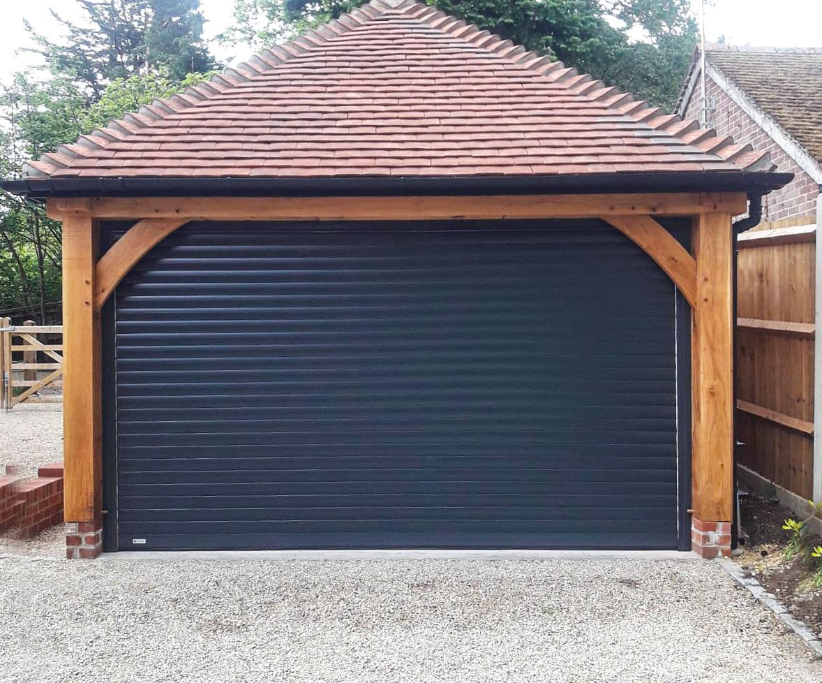 SWS SeceuroGlide Roller Garage Door in Anthracite Grey