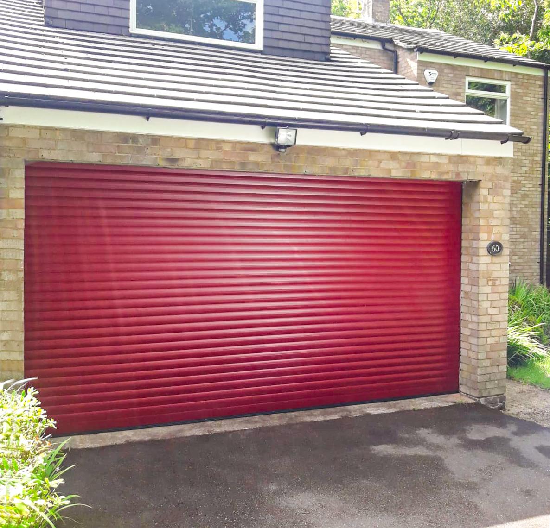 SWS SeceuroGlide Orignal Double Roller Garage Door in Red