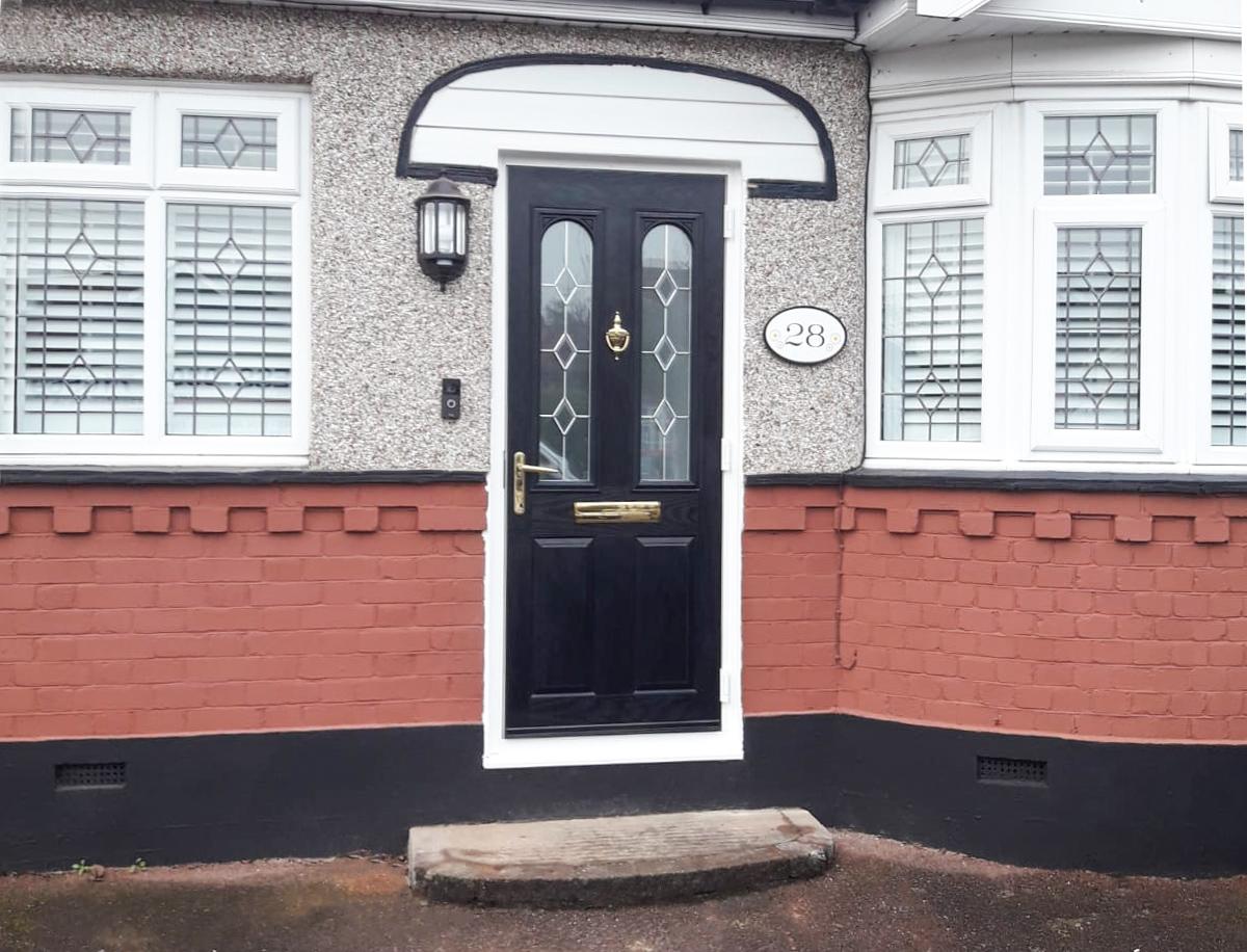 Truedor Cezane TR32 Composite entrance door in black