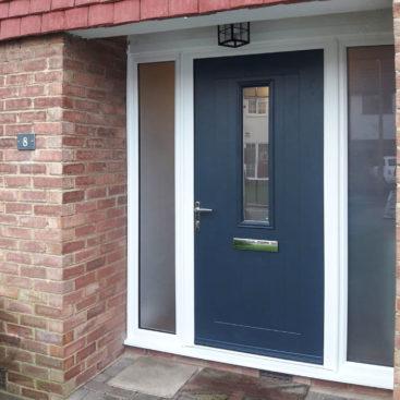 Truedor TR1W Turner Composite Front Door in Anthracite Grey