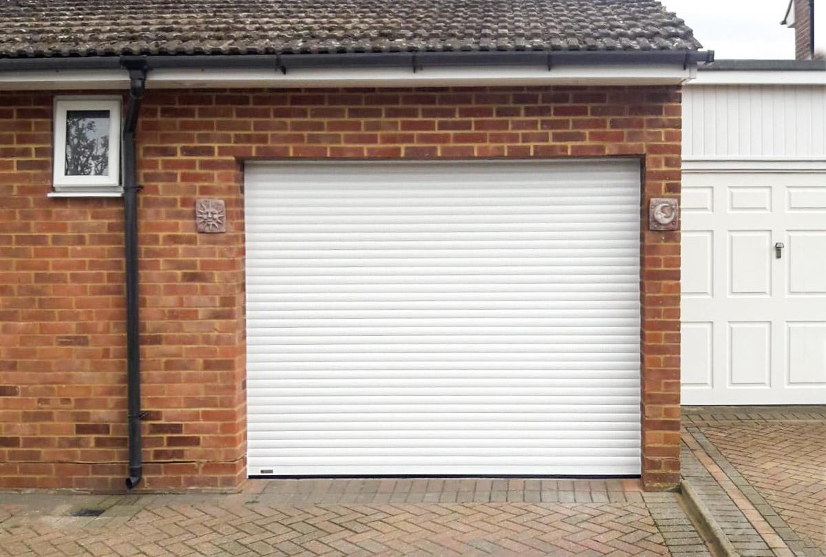 SeceuroGlide Compact Roller Garage Door in White