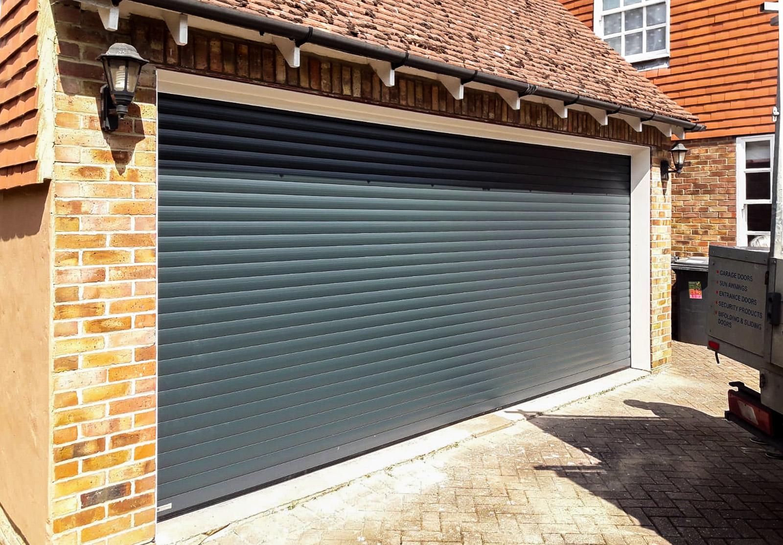 SWS SeceuroGlide Roller garage Door in Antracite Grey