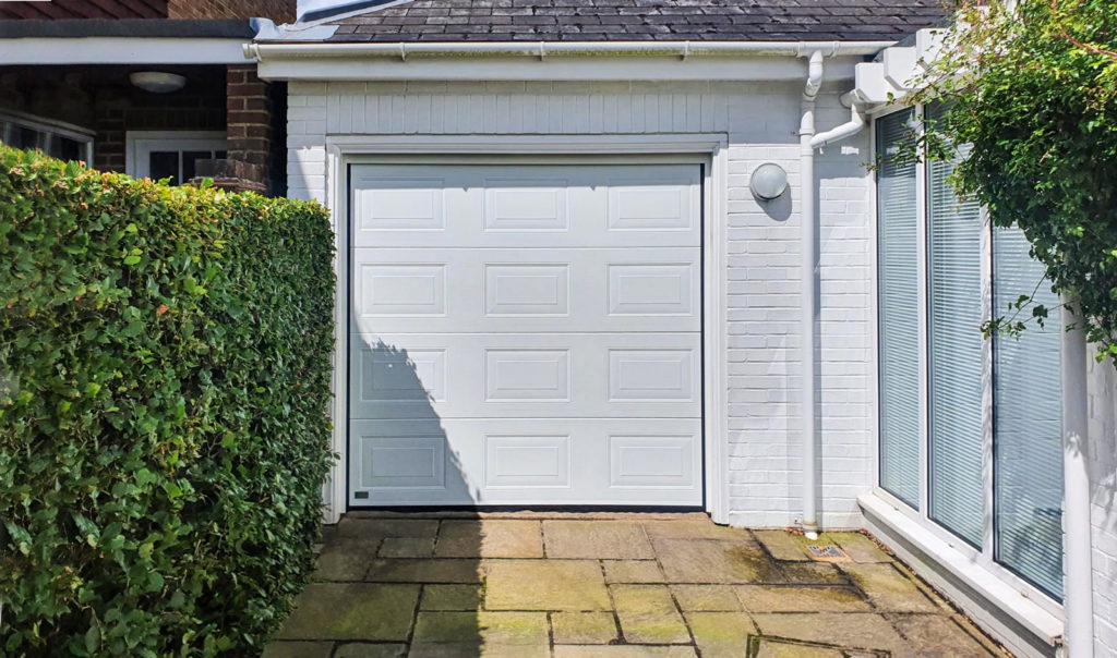 SWS Elite Georgian Insulated Sectional Garage Door in White