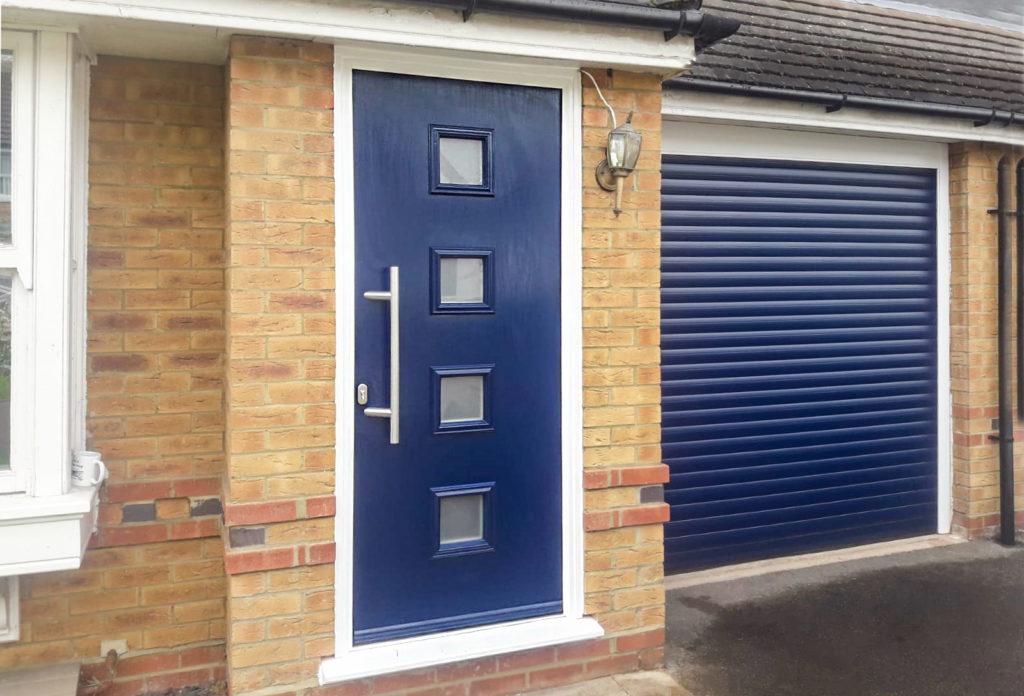 Truedor Mondrian Composite Front Door in Steel Blue