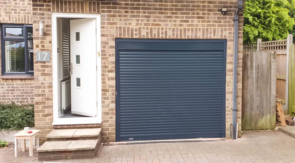 SWS SeceuroGlide Copact Roller Garage Door in Anthracite Grey