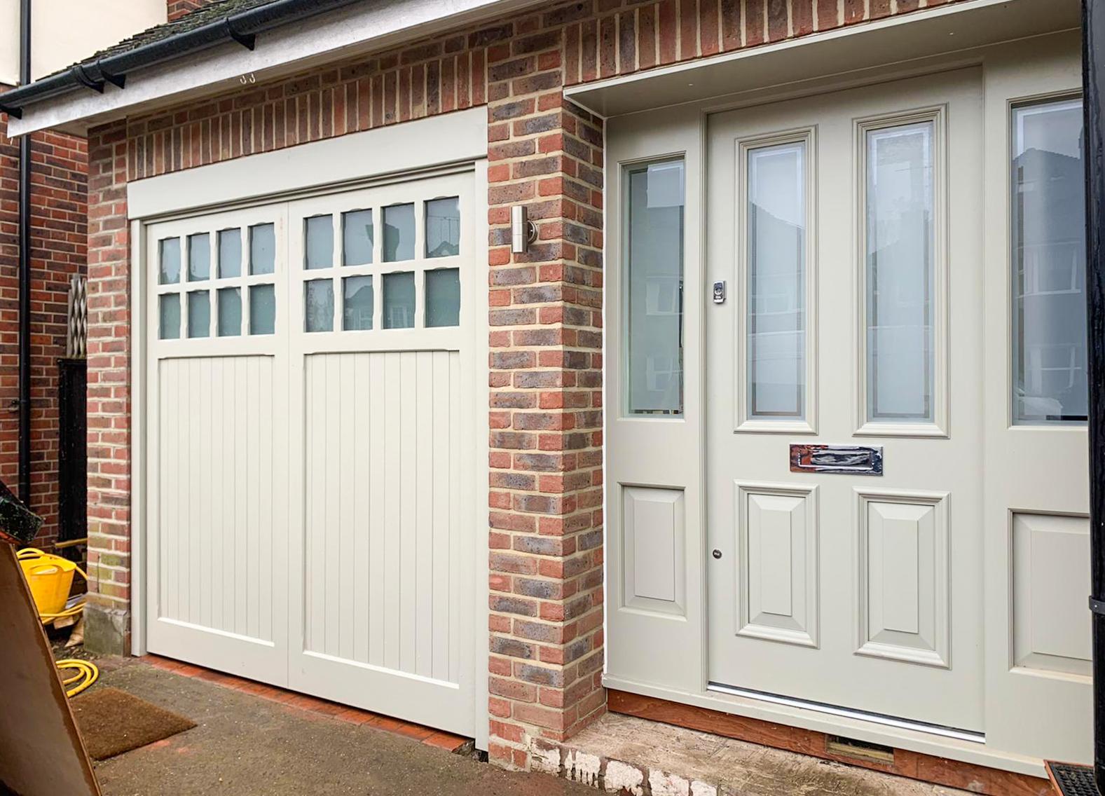 Woodrite Bierton Retractable Up & Over Garage Door Finished in White