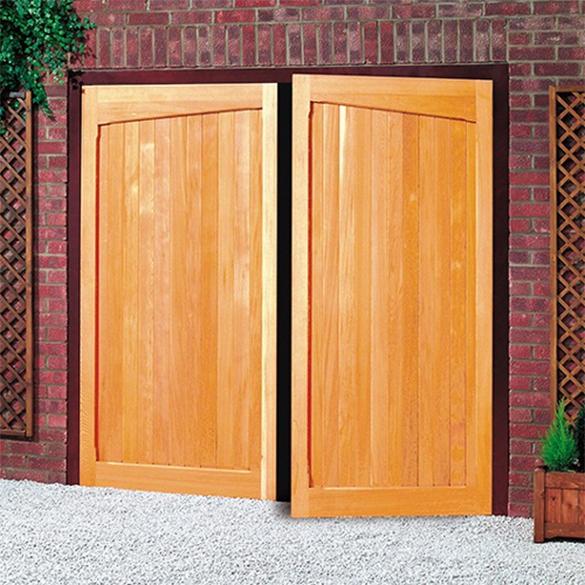 Cardale timber side hinged garage doors