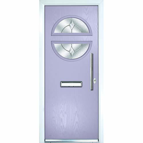 Violet front door
