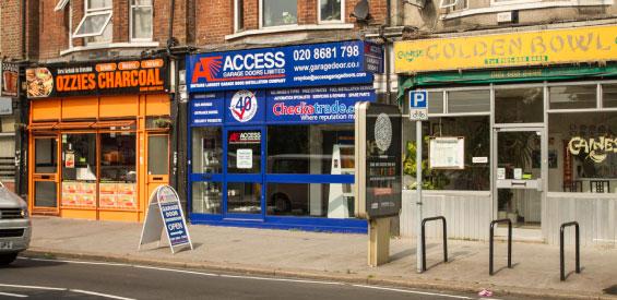 Access Garage Doors Croydon Showroom