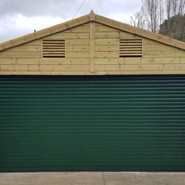 SWS Classic Roller Garage Door in Fir Green
