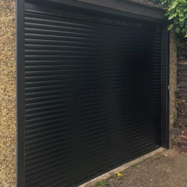 SWS SeceuroGlide Compact Garage Door in Black