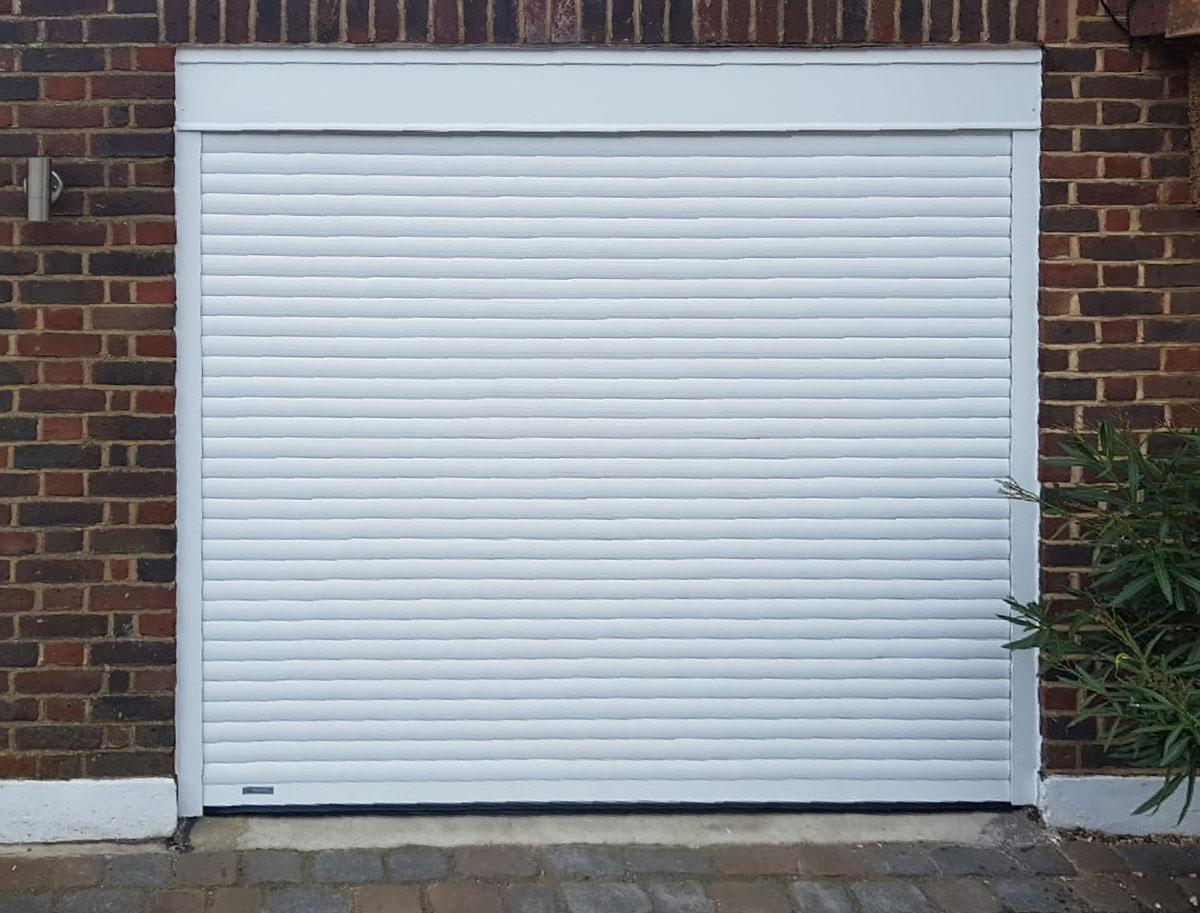 SWS Seceuroglide Compact Roller Garage Door in white