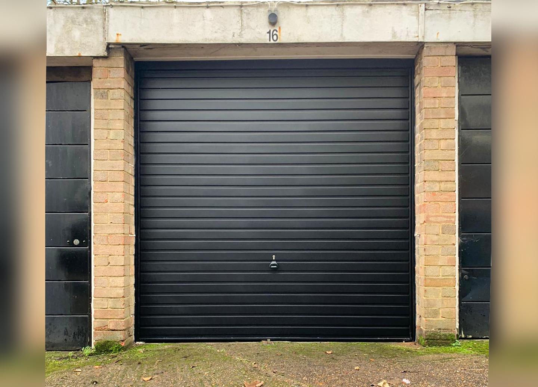 Garador Guardian Horizon Canopy Up & Over Garage Door Finished in Jet Black