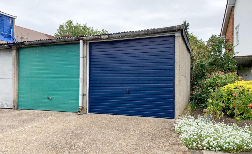 Garador Horizon Steel Up & Over Garage Door Finished in Steel Blue