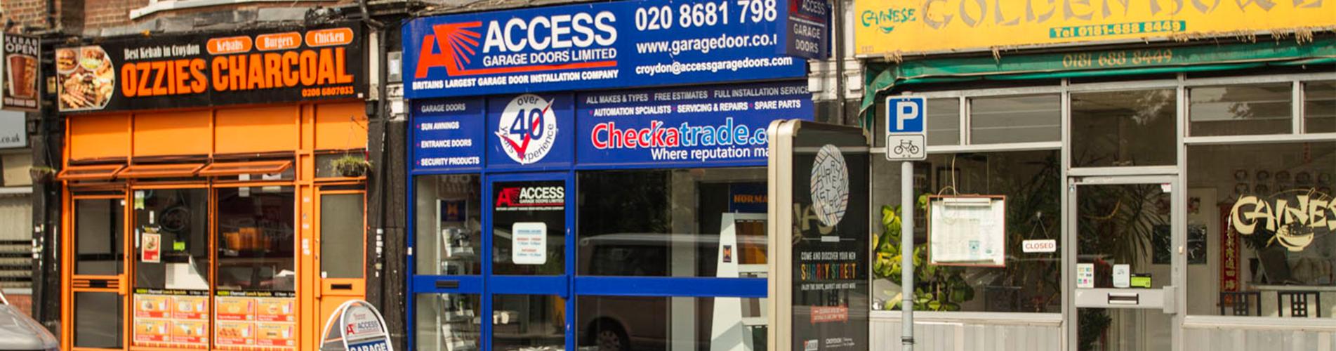 Croydon garage doors showroom