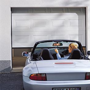 Steel sectional garage doors
