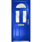 Half moon blue front door