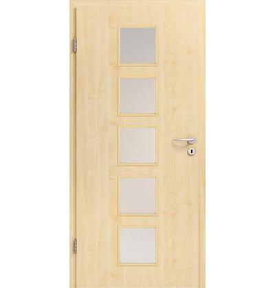 Hormann BaseLine real wood maple veneer glazed internal door