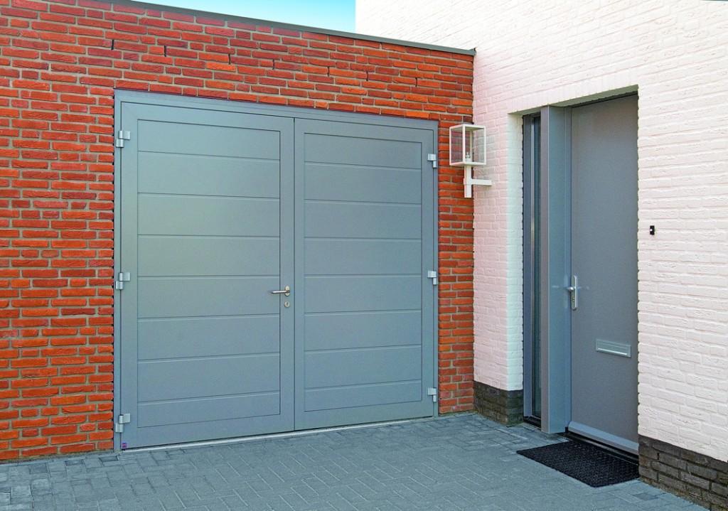 steel side hinged garage doors access garage doors. Black Bedroom Furniture Sets. Home Design Ideas