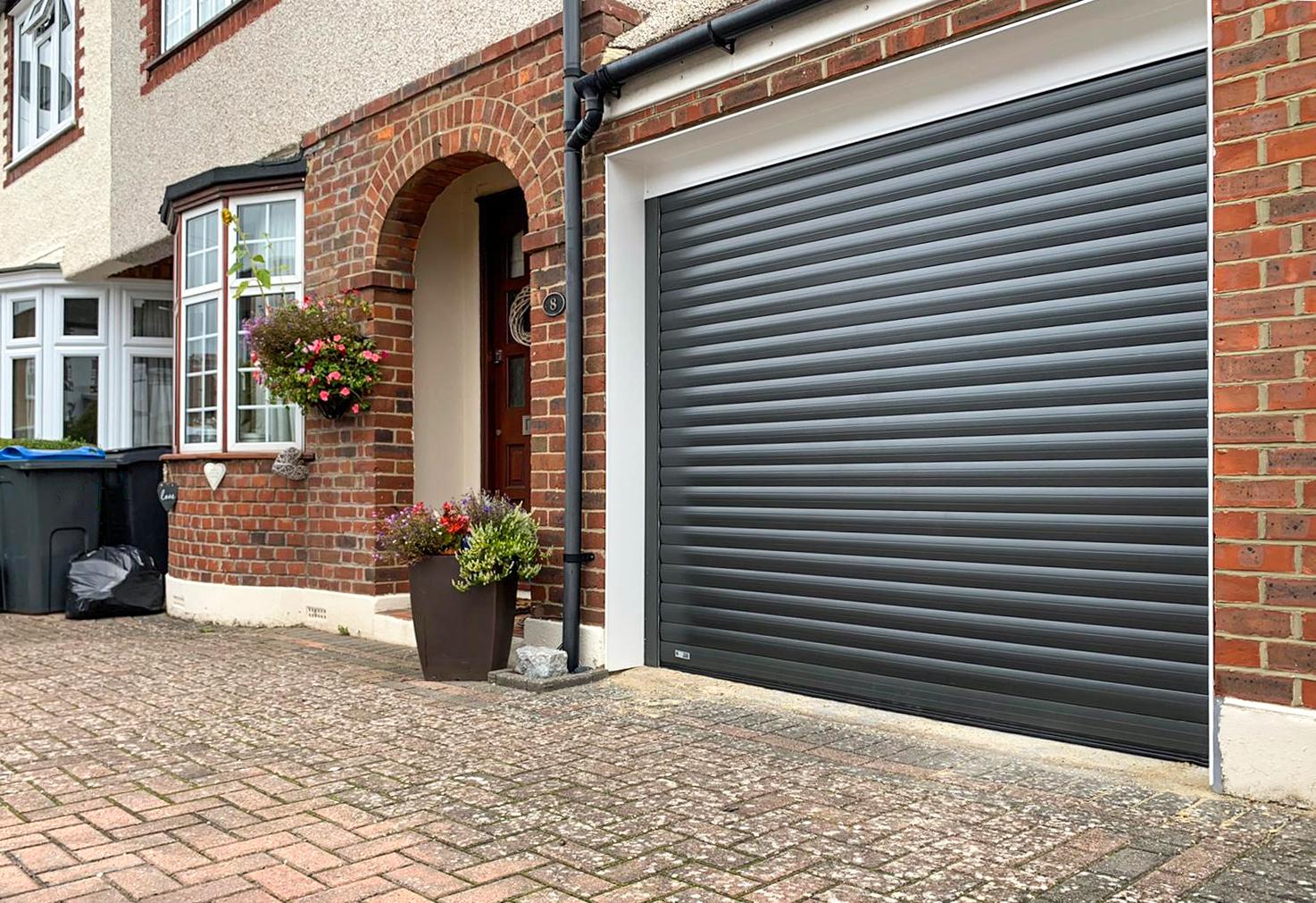 SWS SeceuroGlide Original Insulated Roller Garage Door Finished in Graphite Grey