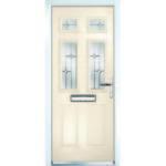Cream front door