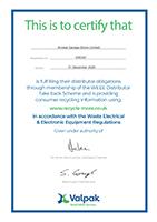 WEEE Certificate