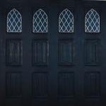 Wessex Woodgrain Gothic Up and Over Garage Door